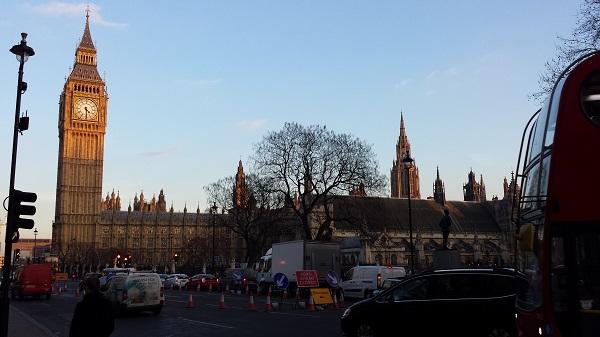 Big Ben e o parlamento em Westminster