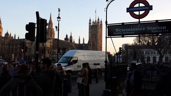 Metro de Westminster, no centro do meu mapa de Londres