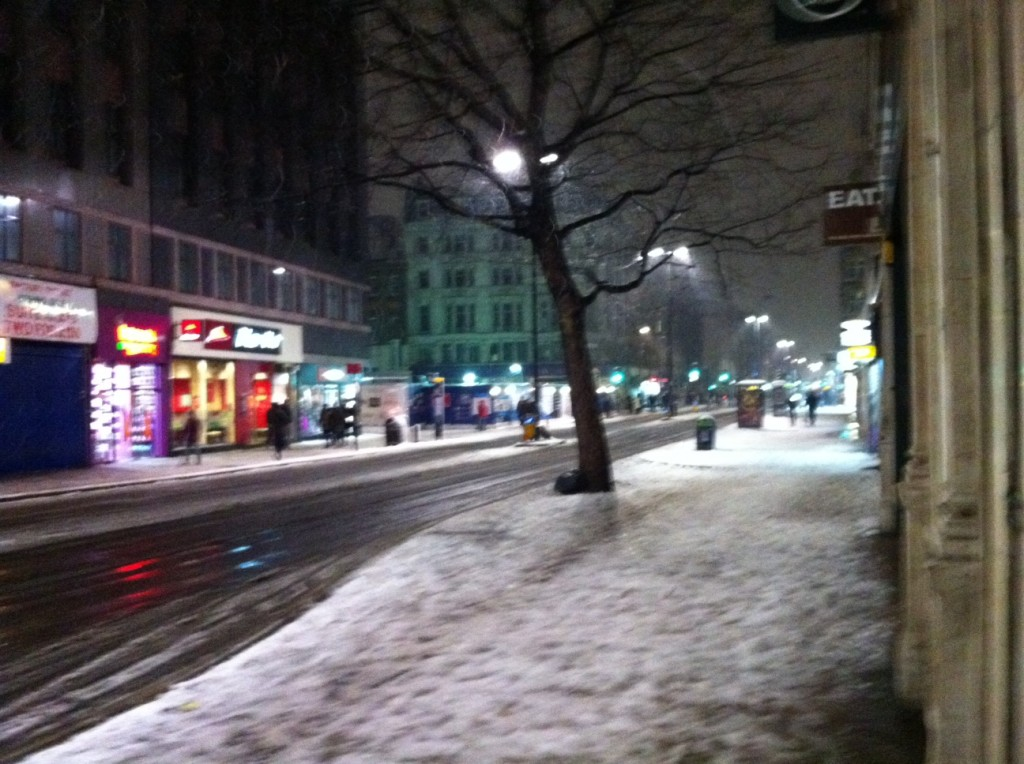 Oxford Street, Londres, com neve