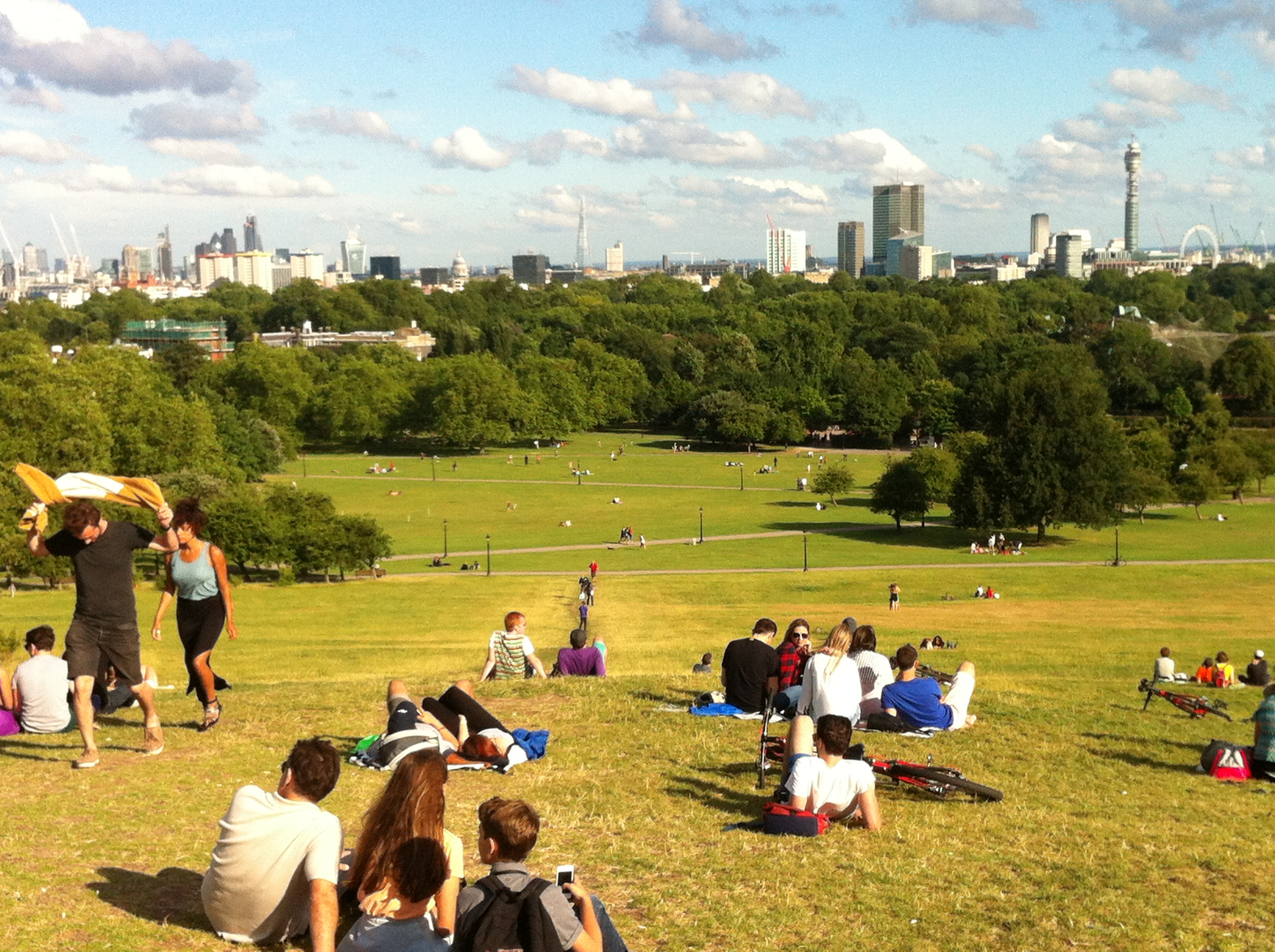 Vista do alto de Primrose Hill