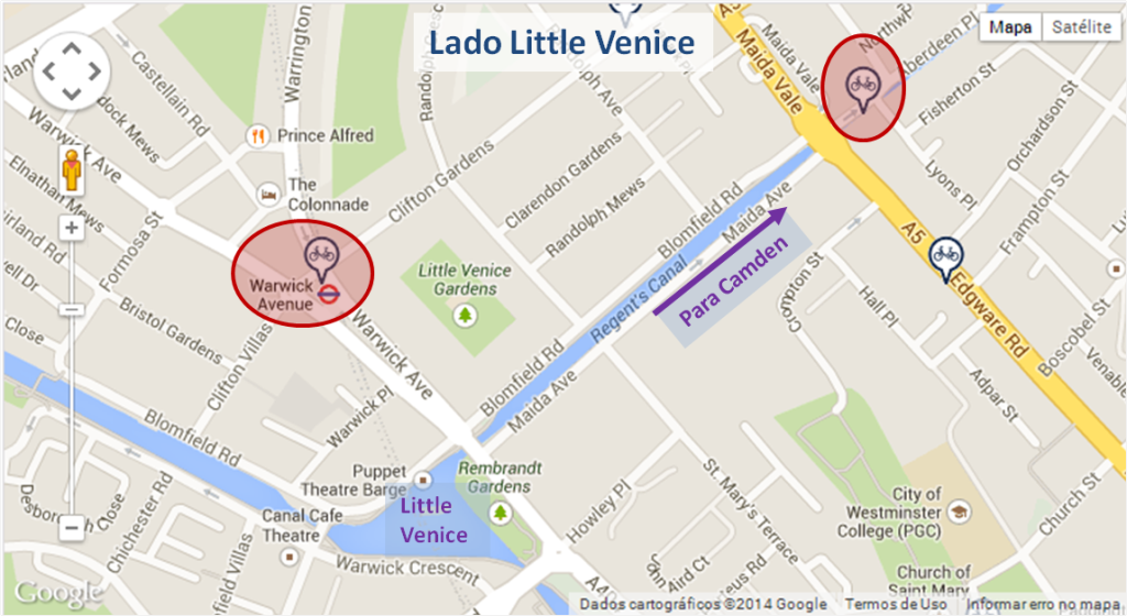Mapa lado Little Venice