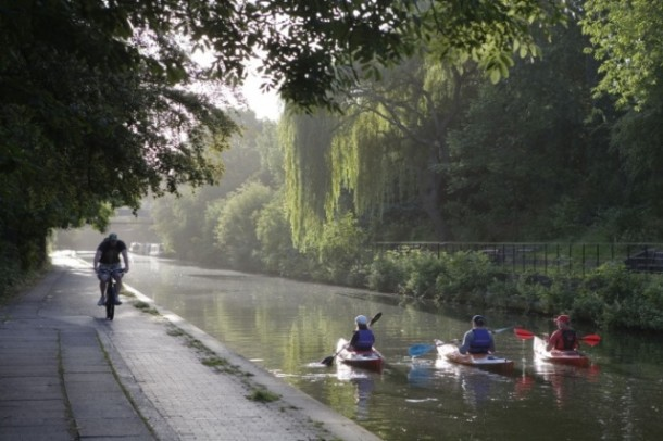 Kayaking no Regents Canal