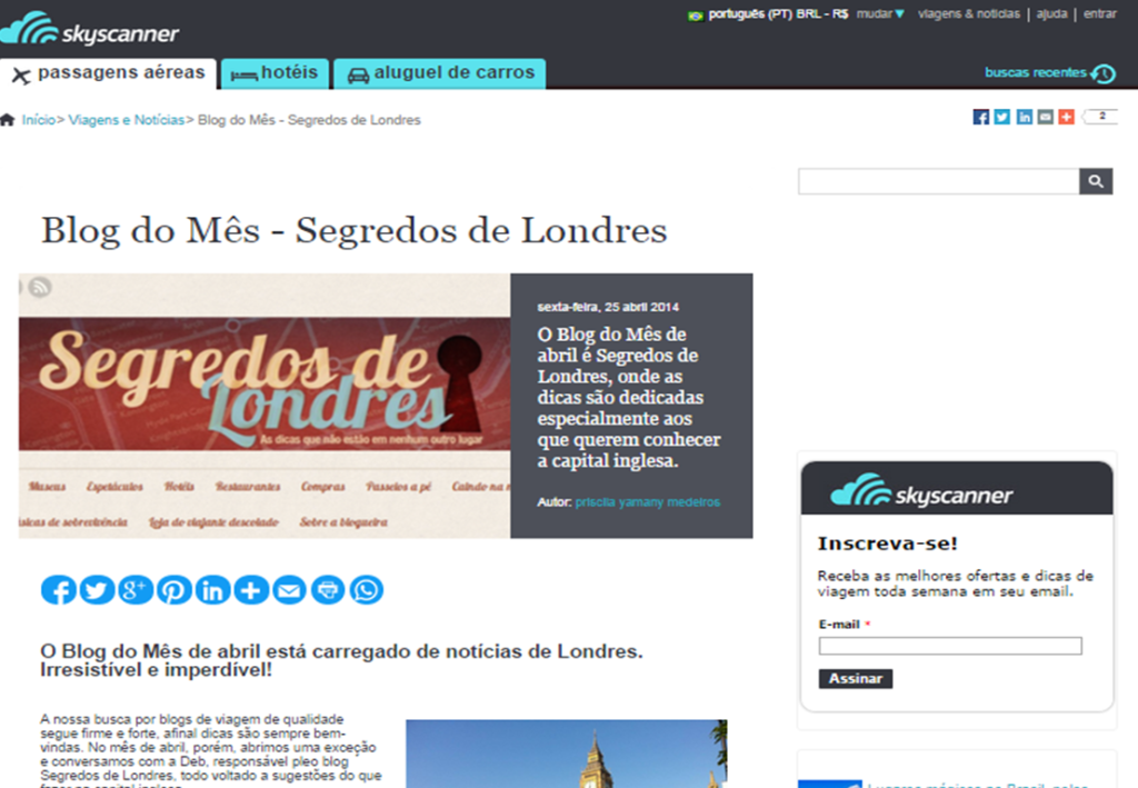 Blog do Mes Skyscanner