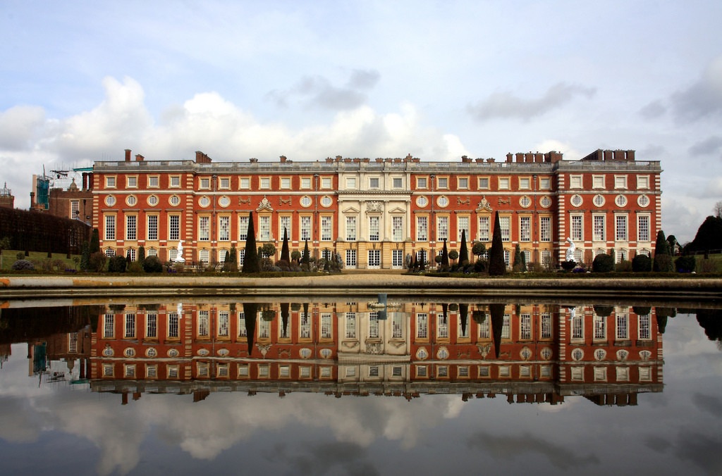 Vista panorâmica do Hampton Court