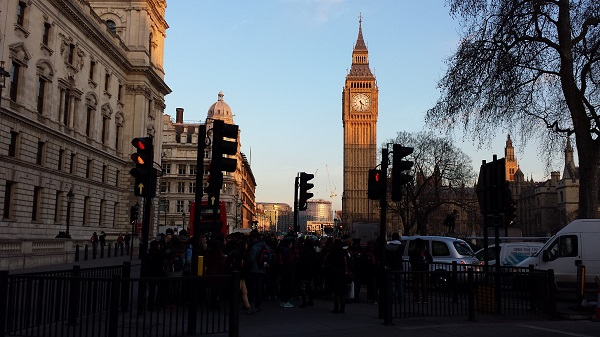 Chegando no Big Ben de St James Park